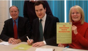 George Osborne signs the CHAIN petition against Incineration in Cheshire