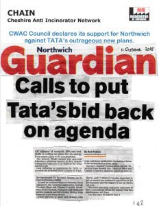 Northwich Guardian front page 11th October 2018