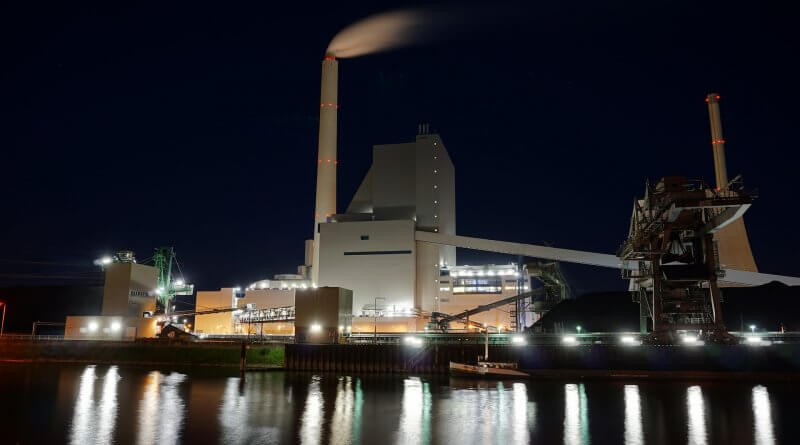 Incinerator at Night