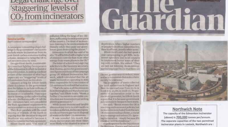 Environmental activist demands waste changes Guardian CO2 Aug 20