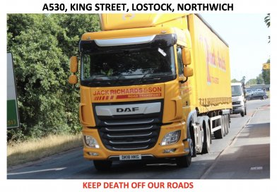 Traffic at Lostock Gralam, Northwich