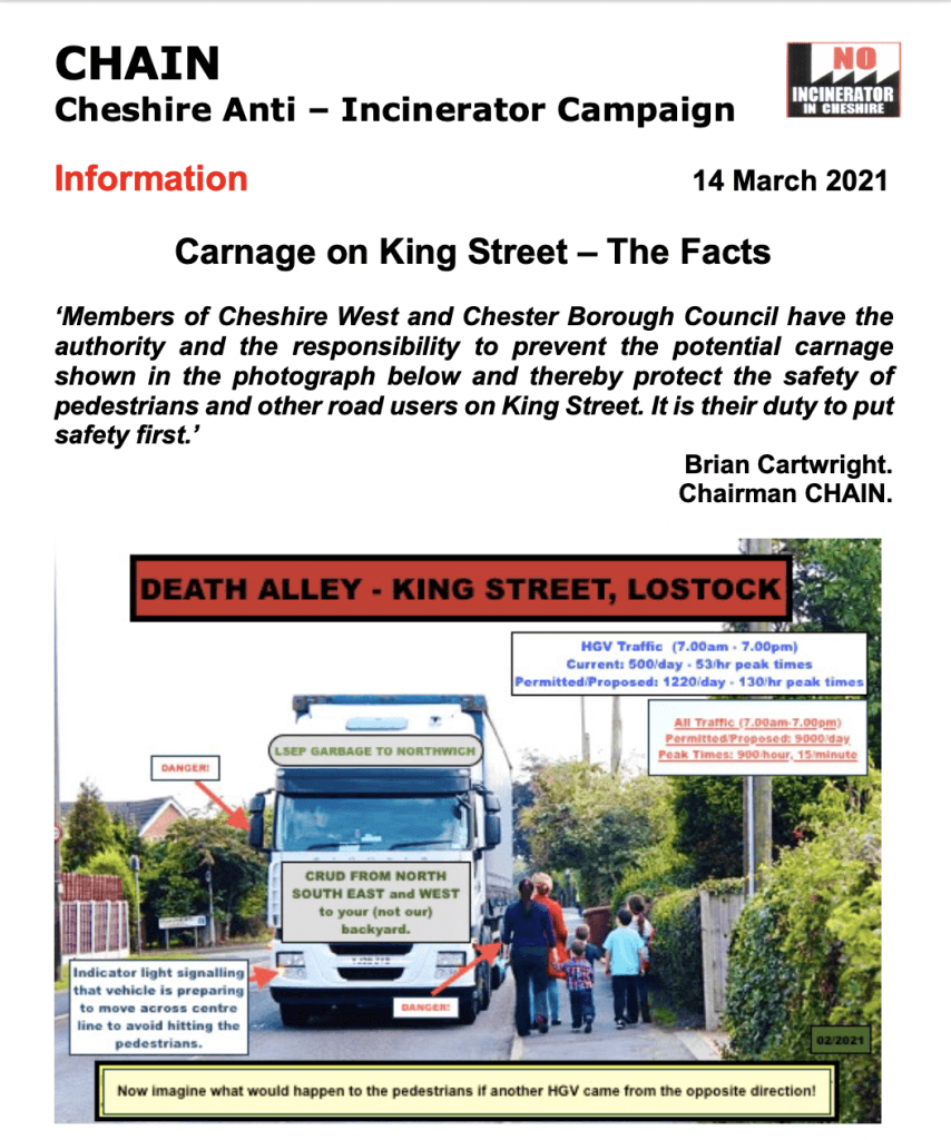 CHAIN King St, Northwich HGV Facts